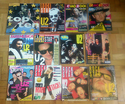 U2 - Lot Of 12 Complete Magazines Italy From 1987   2000