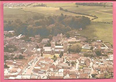 The town of Wimborne Minster, Dorset. Aerial view.