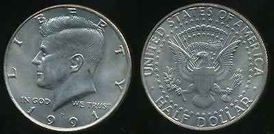 United States, 1991-P Half Dollar, Kennedy - Uncirculated