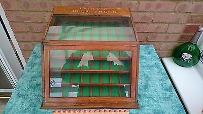 Fantastic  Vintage Haberdashery Shop Counter Top Case For Cotton Reels