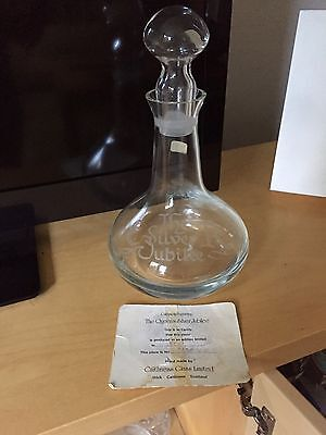 Handmade Caithness Silver Jubilee Decanter Limited Edition