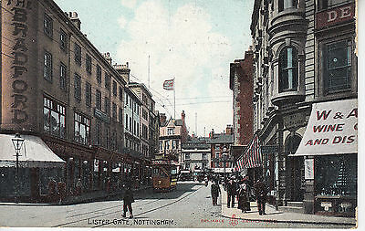 Notts: Lister Gate Nottingham, Different View, Reliable Series PC PU 1907 (1960)