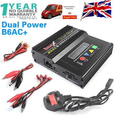 Dual Power iMAX B6 AC LCD Screen Digital RC Lipo NiMh Battery Balance Charger