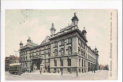 The Exchange Middlesbrough 1905 The Woodbury Series Postcard