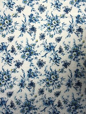 Blue Cornflowers-- Padded Cover For 15X55 Ironing Board