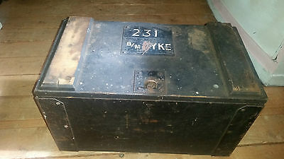 Black Storage Wooden Box Vintage
