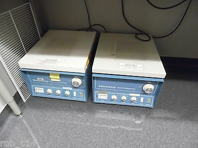 Beckman TJ-6 Centrifuges with rotors. Lot of two