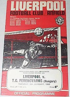 Liverpool v Ferencvaros Fairs Cup 1968