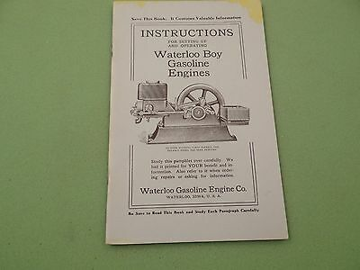 Waterloo Boy Gas Engine Operator Manual Reprint Hit and Miss Engine