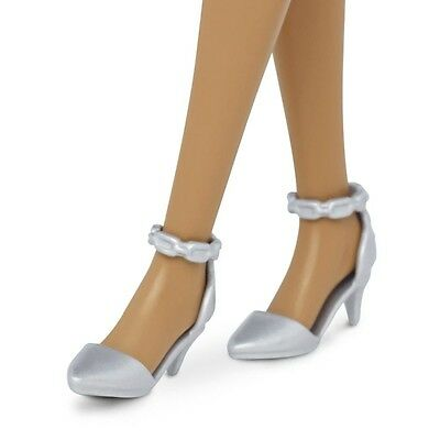 2016 Barbie Shoes Evolution Fashionistas CURVY & TALL Silver Ankle Strap Heels