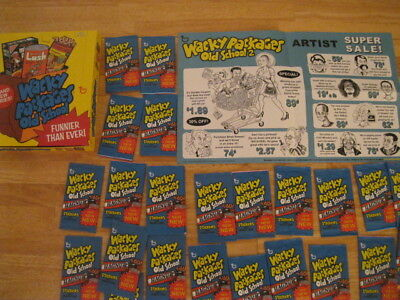 Box of 24 Unopened Packs of Wacky Packages Old School 2