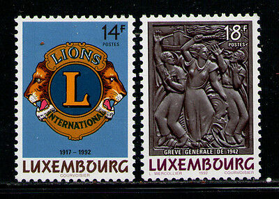 LUXEMBURGO/LUXEMBOURG 1992 MNH SC.870/871 Lions Club and General Strike