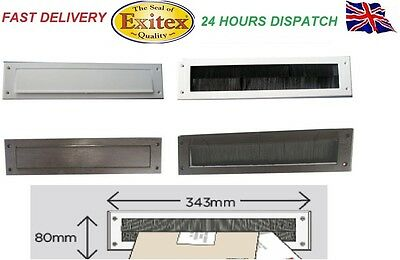 PVC Door Plastic Letter Box Plate Seal Flap Cover Internal Draught Excluder