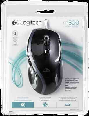 Logitech Mouse M500 Corded Refresh New
