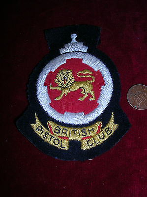 Collectable British Pistol Club Embroideried Badge