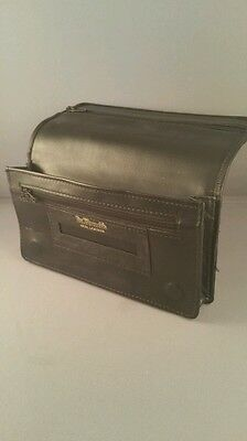 Black Leather Tobacco Cigarette Rolling Pouch Wallet Magnetic Dr Plumbs 5530