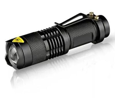 Torch Tactical Zoom Lens 900 Lumen LED Military Grade XML Waterproof AA battery