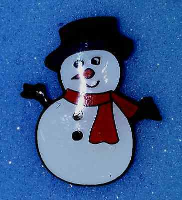Christmas Snowman ( With Red Scarf ) Lapel Pin Badge Bnip