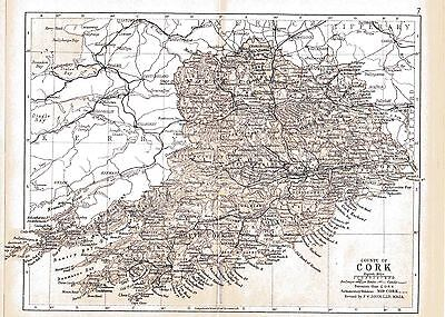 Three antique maps of County Cork & Ireland & a Munster fact sheet.