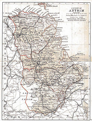 Three antique maps of County Antrim & Ireland & an Ulster fact sheet.