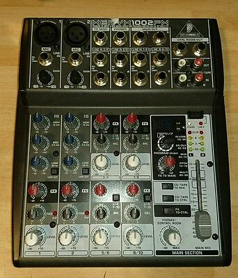 Behringer xenyx 1002fx mixer fully working good condition.