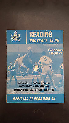 Reading v Brighton & Hove August 27th 1966