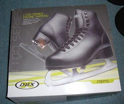 Mens DBX Series 1100 Black Ice Figure Skates size 7 NEW with box