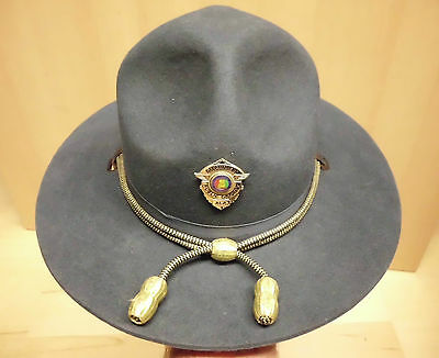 OLD 1970s ALABAMA DPS STATE POLICE WINTER HAT FELT STRATTON AL SP - 7 1/4 INCHES