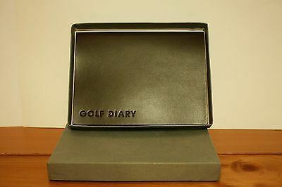 Leather Bound Golf Diary - Boxed