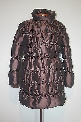 Next Chocolate Brown Long Coat Size Age 9-10 Years - Puffa, Padded