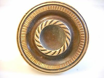 Vintage Greece solid brass large door knob handle -D4