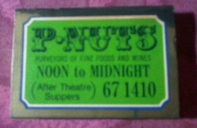 Vintage collectable, P.Nuts matchbox