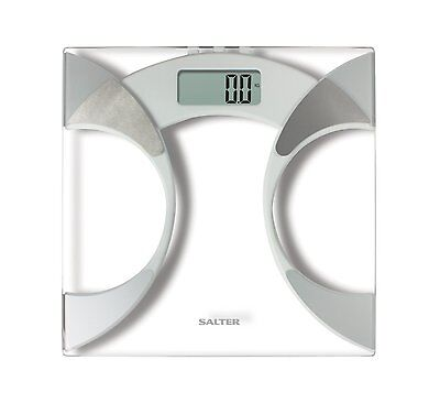 Salter 9141 Glass Body Fat Analyser BMI Bathroom Scale Weight Loss