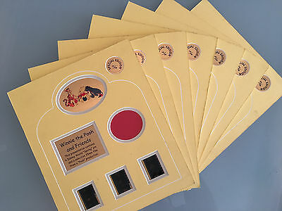 7x Collectable RARE Special Edition Disney's Winnie the Pooh FILM CELLS