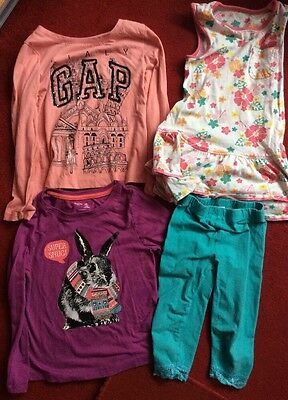 Set/Bundle Baby Gap T-Shirts, E-Vie Angel Trousers, Mothercare Dress 4-5 Years