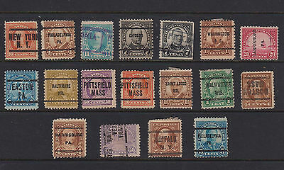 US  USA OLD STAMPS  PRE CANCELS TO 50c