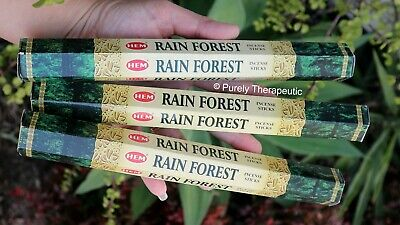 RAINFOREST INCENSE STICKS Hem Hexagonal Pack of 20 Sticks Wicca Smudge Pagan