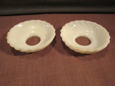 Milk Glass Swirl Glass Candle Covers