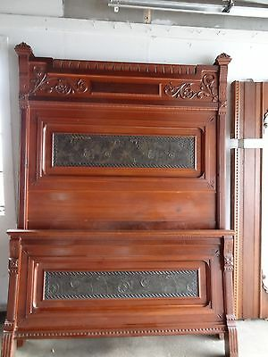 Victorian Eastlake Carved Aesthetic Movement High Back Bed~~FULL SIZE~~