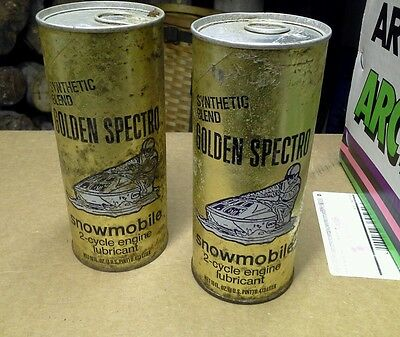 Golden Spectro snowmobile 2 cycle oil cardboard can  two full cans