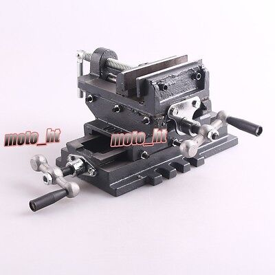 "4"" Cross Drill Press Vise X-Y Clamp Machine Slide Metal Milling AR"