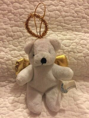 Angel Bear Beanie Plush Christmas Tree Hanger Ornament Decoration Holiday 6""