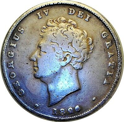 George IV 1826/5? .925 Silver Shilling R/G in GRATIA Extremely Rare