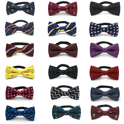 Boys Toddler Infant Bowtie Children Kids Pre Tied Wedding Party Bow Tie Necktie