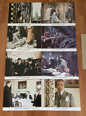 The Thirty Nine Steps lobby cards complete set of 8- Robert Powell - NEW.