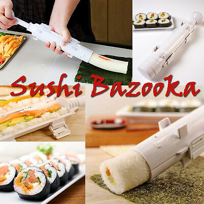 Sushi Bazooka Kitchen Appliance Gourmet Cooking Shape Tube Easy Food Maker Molds