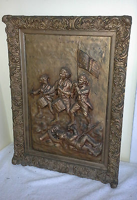 Centennial 1876 Rogers Plaster Willard Painting Yankee Doodle Sprit of 76 Plaque