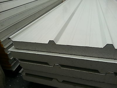 75mm EPS roof panels (sandwich insulation coolroom) roofing sheets, $45/m²