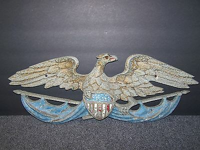 Large Cast Metal Eagle Wall Hanging 23 Inch Wingspan