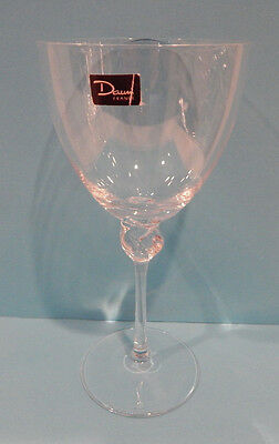 """Daum Bolero Water Goblet (S) Glass 6 7/8"""" Made In France Excellent!"""